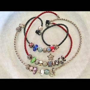 Pandora Bracelets with Pandora charms. Certified.